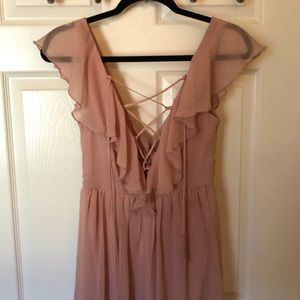 Forever 21 dusty rose maxi dress size SMALL